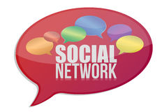 Social media network message icon Stock Photo