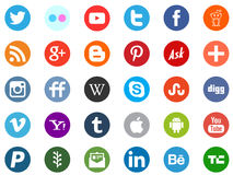 Social media network. Most wanted internet related icons such as facebook pinterest twitter youtube and more. eps file available Royalty Free Stock Photos