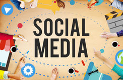 Social Media Network Online Internet Concept Royalty Free Stock Images