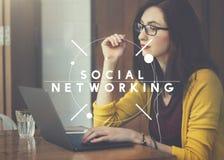 Social Media Network Socialize Communication Concept Royalty Free Stock Photos