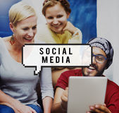Social Media Network Socialize Communication Concept Royalty Free Stock Photography