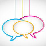 Social media network speech bubbles Stock Images