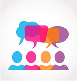 Social media network speech bubbles. People illustration vector design Royalty Free Stock Images