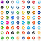 Social media,network,web buttons Royalty Free Stock Photography