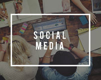 Social Media Network Web Online Internet Concept Royalty Free Stock Image