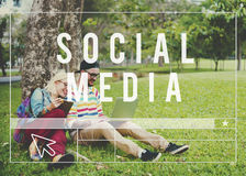 Social Media Network Web Online Internet Concept stock photo