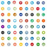 Social media networking app logo signs Royalty Free Stock Photography