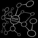 Social Media Networking Chart stock illustration