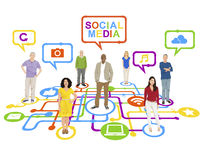 Social media Networking Computer concept Royalty Free Stock Photography