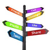 Social media networking concept Stock Images