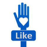Hand with like Royalty Free Stock Photos