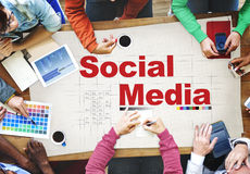 Social Media Networking Connection Communication Concept Stock Images