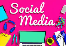 Social Media Networking Connection Communication Concept Royalty Free Stock Images