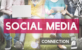 Social Media Networking Connection Communication Concept Royalty Free Stock Photos