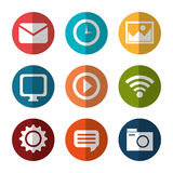 Social media and networking design Royalty Free Stock Images