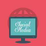 Social media and networking. Social media networking icon vector illustration graphic design Royalty Free Stock Photography