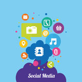 Social media and networking. Icon vector illustration graphic design Stock Photo