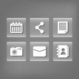Social media and networking icons set Stock Photography