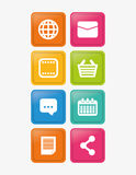Social media and networking icons set Stock Photo