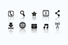 Social media and networking icons set Stock Images