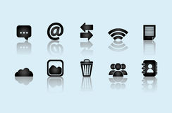 Social media and networking icons set Royalty Free Stock Photo