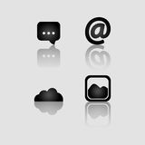 Social media and networking icons set Stock Image
