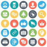 Social Media and Networking Minimal Icon Set Royalty Free Stock Photos