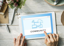 Social Media Networking Online Connection Communication Concept Royalty Free Stock Photos