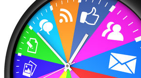 Social Media Networking Time Management Royalty Free Stock Image