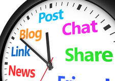 Social Media Networking Time Management Stock Images