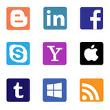 Social media and networks icons and logos royalty free illustration