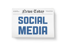 Social media news Stock Photography