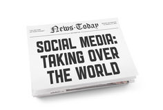 Social media newspaper concept Royalty Free Stock Photos