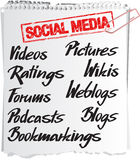 Social media notice Royalty Free Stock Images