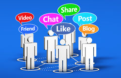 Social Media Online Community Stock Photos