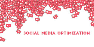 Social Media-Optimierung stock abbildung