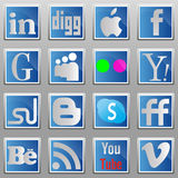 Social media oval icons. Royalty Free Stock Images