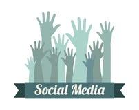 Social media. Over white background vector illustration Stock Image