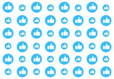 Social media pattern background with thumbs up. Comments, Likes, ok and approval. Vector illustration design. Eps10 vector illustration