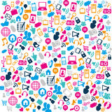 Social media pattern icons Royalty Free Stock Images