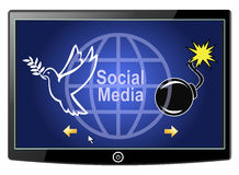 Social Media Peace or War Stock Photo