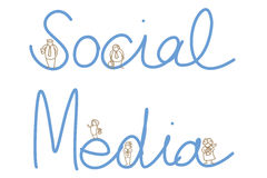 Social media people Stock Image