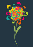 Social media people flower Stock Image
