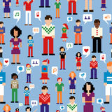 Social media people network pattern Stock Image