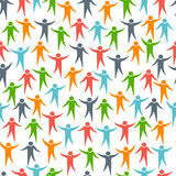 Social media people seamless pattern Royalty Free Stock Photography