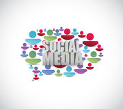 Social media people speech bubble. illustration Stock Photos
