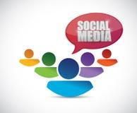 Social media people team illustration Stock Photography