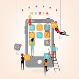 Social media people vector illustration Royalty Free Stock Images