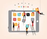 Social media people vector illustration Stock Photography