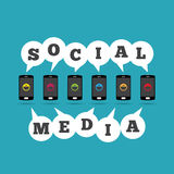 Social Media Phones Royalty Free Stock Images